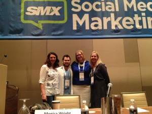 "Speaking on the ""Managing Your Social Editorial Calendar"" panel at SMX Social Media Marketing conference 2013"