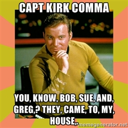 Captain Kirk comma